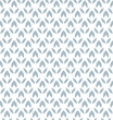 Flower geometric pattern. Seamless vector background. White and blue ornament - 199882036