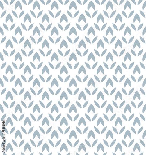 Kwiat geometryczny wzór. Bezszwowe tło wektor. Biały i niebieski ornament