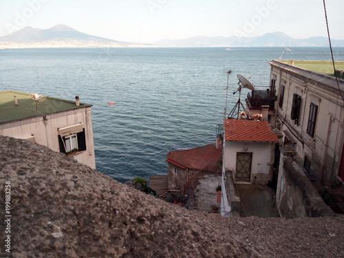 Fotobehang Napels Il mare di Napoli visto da posillipo