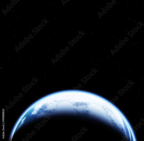 Foto op Plexiglas Heelal Space scene with Earth on black background with stars