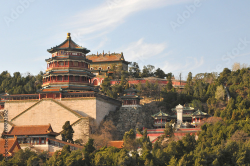 Foto op Plexiglas Peking The Tower of Buddhist Incense in The Summer Palace the Imperial Garden in China