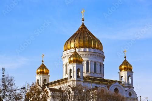 Foto op Aluminium Moskou Church of Christ the Savior in Moscow Russia