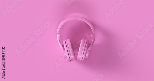 Różowa hełmofonów 3d ilustracja