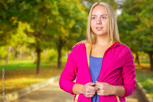 Fotobehang Fitness Portrait of beautiful smiling young woman