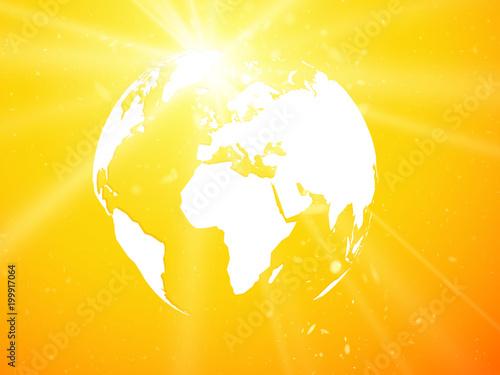 kula ziemska, planeta ziemia z widokiem azburst Asia