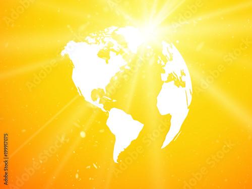 kula ziemska, planeta ziemia z widokiem na starburst ameryki