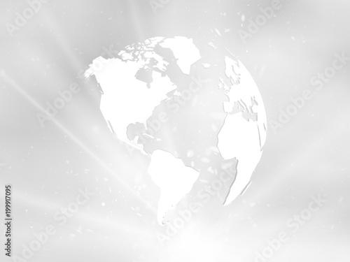 Planeta Ziemia z gwiazdą na szarym tle Ameryki widoku