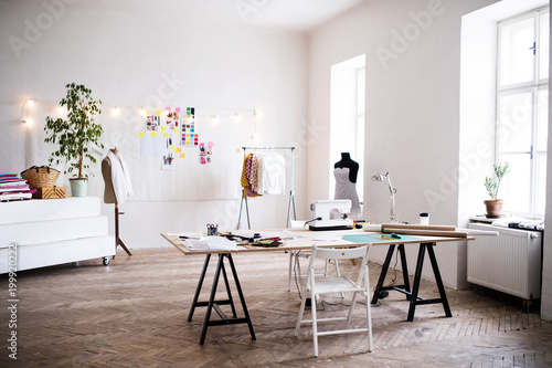 Interior of a studio, startup business.
