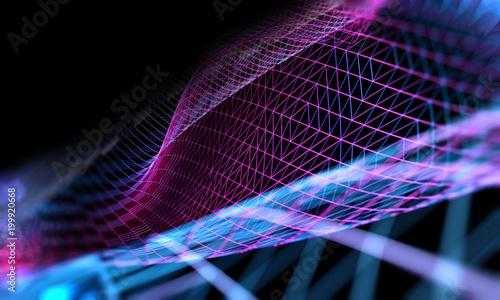 Abstrakcjonistyczna nauka i technology.Maya tło, sieć i linia wzór.