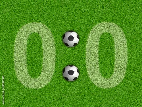 Fotobehang Bol Score 0:0 on the grass