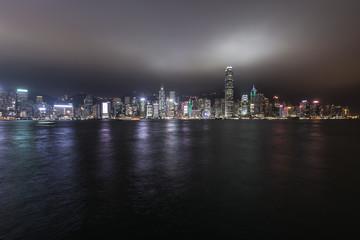 Hong Kong skyline and cityscape at night