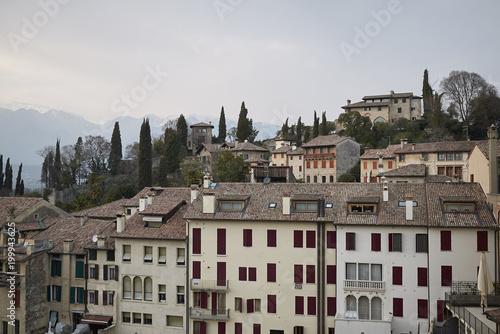 Foto Murales Asolo, Italy - March 26, 2018 : View of Asolo from Queen Cornaro castle
