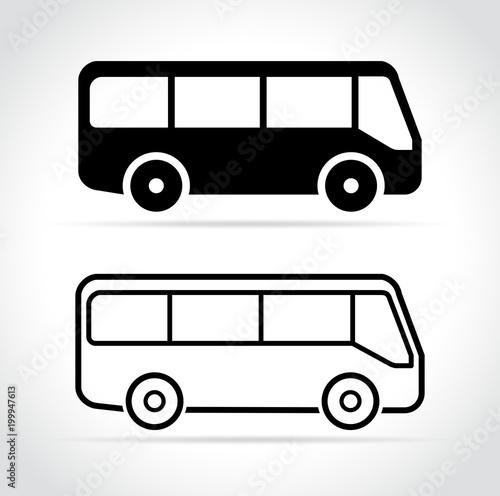 Fototapeta bus icons on white background