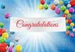 Winner Congratulations Background. Vector Illustration