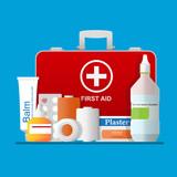 First aid kit box vector illustration. - 199948671