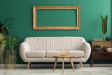Mockup in green living room - 199949490