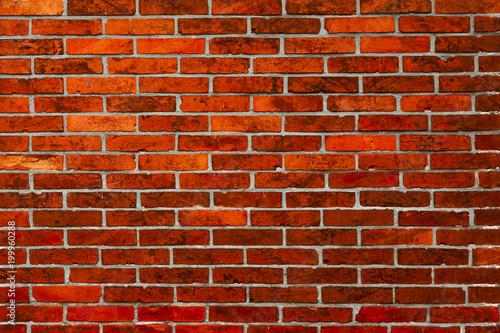 Fotobehang Baksteen muur Rote Ziegelwand