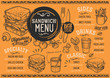 Coffee restaurant menu. Vector drink flyer for bar and cafe. Design template with vintage hand-drawn food illustrations. - 199965438