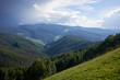 Scenic landscape of Vail mountain and valley