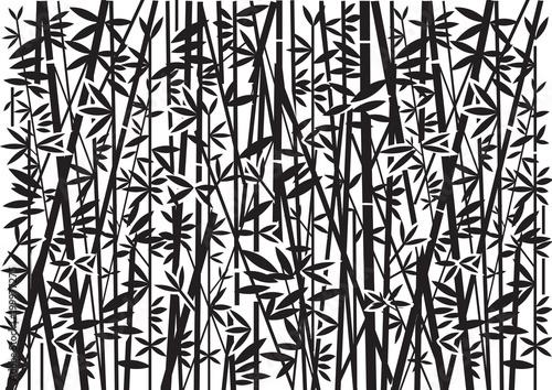 Fototapeta Bamboo, Decorative green background. Stylized Illustration of green bamboo decorative background.Vector available.