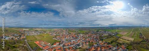 360° Luftbild Panorama Dirmstein Rheinlandpfalz - 199981058
