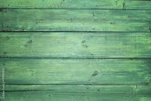 Old wooden boards with old crock, vintage background. - 199981805