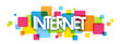 INTERNET colourful letters icon