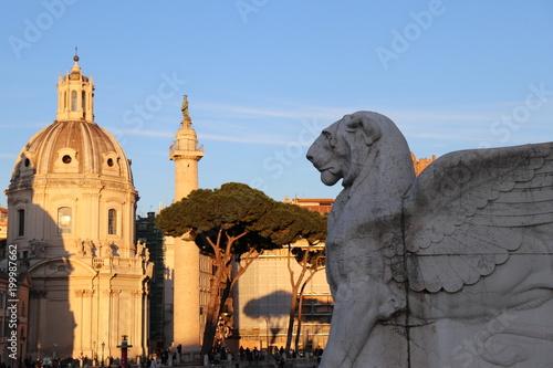 Fotobehang Rome Piazza Venezia Rome Italy