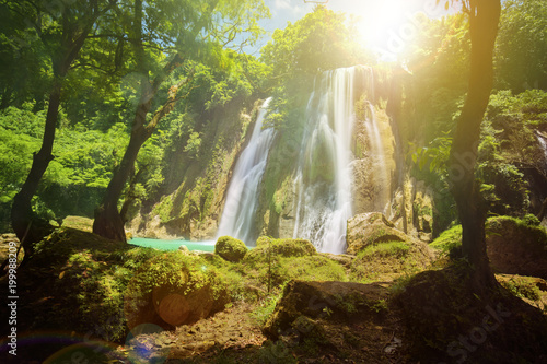Beautiful Cikaso waterfall landscape - 199988209