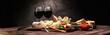 Leinwanddruck Bild - Italian antipasti wine snacks set. Cheese variety, Mediterranean olives, pickles, Prosciutto di Parma with melon, salami.