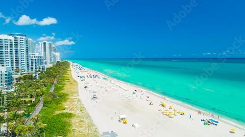 Aerial view of South Beach, Miami Beach, Florida. USA