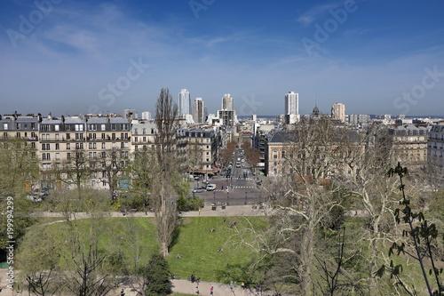 Fotobehang Parijs Parc des Buttes Chaumont, Paruis