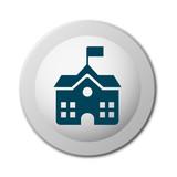 runder realistische Schaltfläche - Schulgebäude