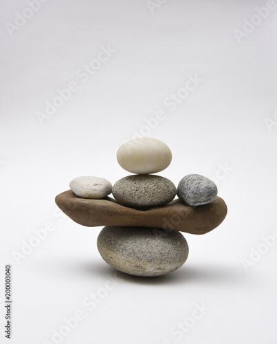 Foto op Canvas Zen Stack of stones (cairn)