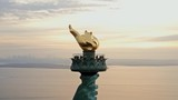 Aerial View Close Up Torch Statue of Liberty 4K - 200011435