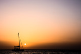 Sail Boat Silhouette  at Sunset - 200027878