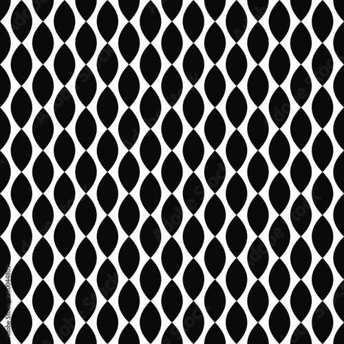 Seamless black and white vertical curved shape pattern