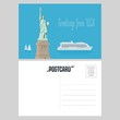 American statue of liberty vector illustration