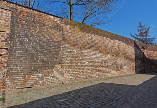 Fotobehang Baksteen muur alte mauer