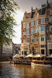 Luxurious Hotel put on One of the Canals of Amsterdam