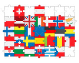 flags of all countries, members of European Union in puzzle - 200055651