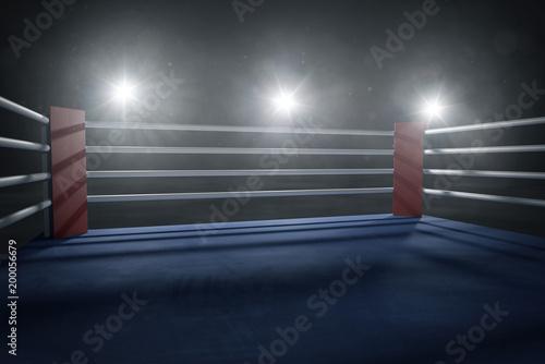 Boxring bei Gegenlicht