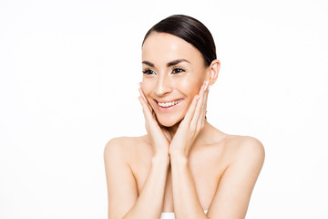 Portrait of beautiful woman. Beauty and Spa. Concept of skin care