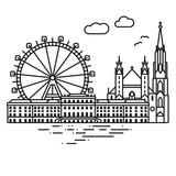 Vienna Cityscape vector illustration - 200058425