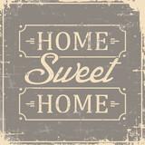 Home Sweet Home Signage Vintage Retro Shabby
