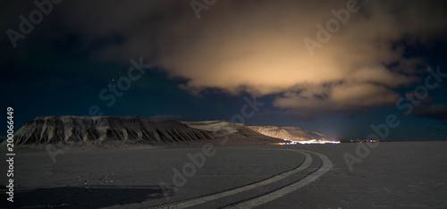 Foto op Plexiglas Zwart Svalbard