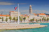 Riva Promenade, Bell tower, Italian and British embassy and consulates in Split Croatia. - 200074460