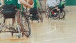 Training of disabled sportsmen - playing wheelchair basketball