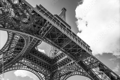 Fotobehang Eiffeltoren The Eiffel Tower, view from below, Paris France