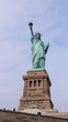 Statue of Liberty in New York in front of blue sky, Manhattan, New York City, famous lady
